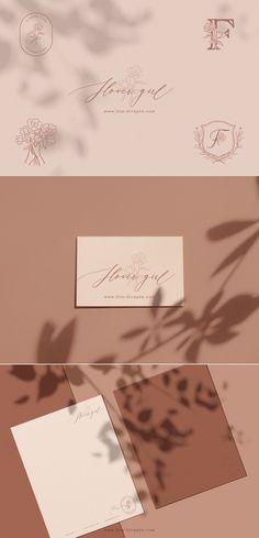 Brand Identity - Flower Girl - for sale! www.One-Giraphe.com #logo #logodesign #brandidentity #logodesigner #logo #logos #etsy #minimal #designer Brand Identity, Branding, Minimal Logo, Logo Design Services, Technology Logo, Modern Minimalist, Initials, Place Card Holders, Creative