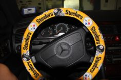 LFN Steelers Steering Wheel cover . Unisex wheel cover - Car Accessories . by Wheelering on Etsy