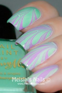 Meisies Nails: Water Marble~ liking these colors too