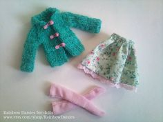 3 piece peppermint green set for Blythe by RainbowDaisies on Etsy