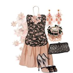 """Black and Peach"" by jlg8503 on Polyvore"