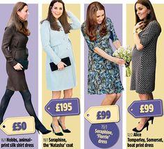 Oh baby! Kate's £29,428 BUMPer maternity wardrobe #dailymail