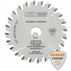 Buy CMT 288 Chrome Scoring Blade for sale at Scott+Sargeant Woodworking Machinery: Showroom warehouse near London Circular Saw Blades, D 20, Router Bits, Chrome, Orange, Tools, Instruments, Appliance, Vehicles