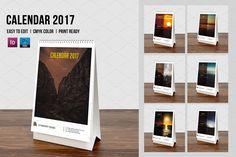 Desk Calendar 2017-V01 by Template Shop on @creativemarket