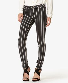Vertically Striped Skinny Jeans | FOREVER21 - 2038341985