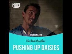 """""""Pushing up daisies"""" means """"to be dead"""". Text in the clip: - Yes. - You were acquainted with Gluant? - I'm glad he's pushing up daisies. - He is not pushing up daisies. He is dead. - It's an idiom. - You, sir, is a idiom. #idiom #idioms #slang #english #learnenglish #studyenglish #language #vocabulary #efl #esl #tesl #tefl #toefl #ielts #daisies #pinkpanther #stevemartin"""