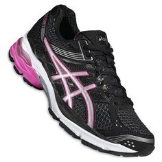 Asics Gel-Pulse 7 Woman Black Pink Shoes   Make your training runs as comfortable as possible from the superb cushioning underfoot to the Gore-Texª waterproof upper that keeps rain out.  Every landing is softer on your feet thanks to rear and forefoot cushioning.  #runningshoes #woman #retto #asics