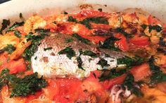 Abruzzi fishstew - 20-30 minutes in the oven assorted fish and shellfish can be included (4 fresh tomatoes, 4 cloves garlic, 1/3 C each olive  oil and parsley [bake 10 min at 375], add salt and fish