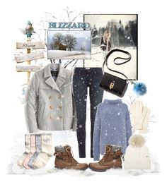 """""""Snow Time"""" by sweetdee55 ❤ liked on Polyvore featuring Steve Madden, J.Crew, Paige Denim, TIBI, Woolrich, Michael Kors and Lacoste"""
