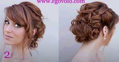 Peinado novia rizado