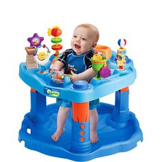 $39 Evenflo - ExerSaucer Baby Activity Center, Mega Splash - Walmart.com