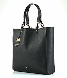 Lauren Ralph Lauren Bembridge Tote  Dillards Ralph Lauren Handbags, Leather  Luggage Tags, Black 57e64dd6e7