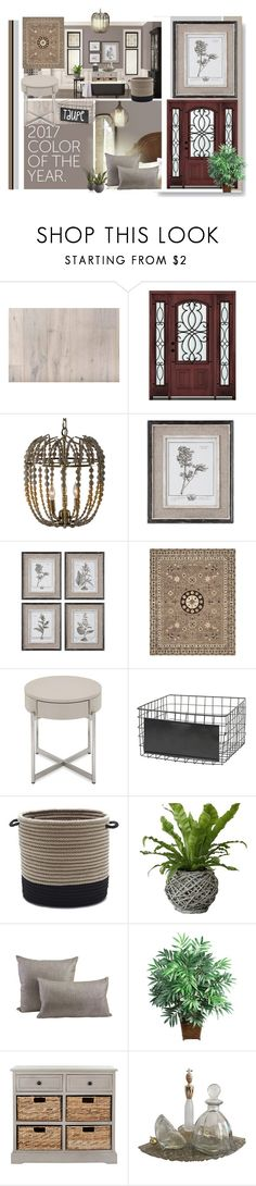 """""""TAUPE"""" by beleev ❤ liked on Polyvore featuring interior, interiors, interior design, home, home decor, interior decorating, Aidan Gray, Home Decorators Collection, Uttermost and Safavieh"""