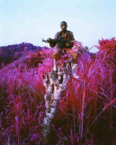 Le photographe Richard Mosse voit la guerre en rose