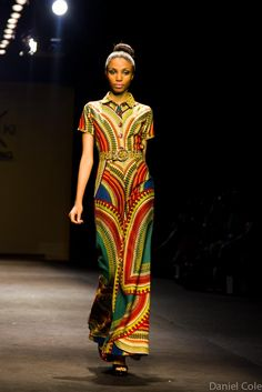 Outfit by Kiki Clothing of Ghana at the Mercedes-Benz Fashion Week, South Africa Johannesburg Daniel, Cole