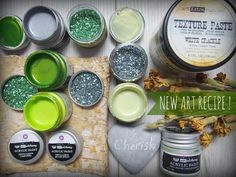 Ready For A New Art Recipe? Each month Finnabair brings us a brand-new Art Recipe so we can mix up wondrous goodies in our mixed-media kitchen! March's Art Recipe is filled with luck and splendor! Beautiful Art Alchemy paints mixed with shimmery silver and green glitters provide a beautiful combination. #artrecipe #finnabair