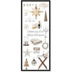 Dreaming of a White Christmas by lily-lux on Polyvore featuring interior, interiors, interior design, home, home decor, interior decorating, Howard Elliott, Mark & Graham, Lenox and NKUKU