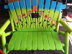buddy bench idea for girl scout service project change a story badge relay for life pinterest. Black Bedroom Furniture Sets. Home Design Ideas