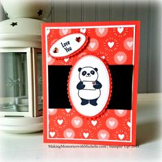 Party Pandas and Bubble & Fizz Designer Series paper, both from the 2018 Sale-a-Bration collection.     Making Memories with Michelle     Stampin'  Up! 2018