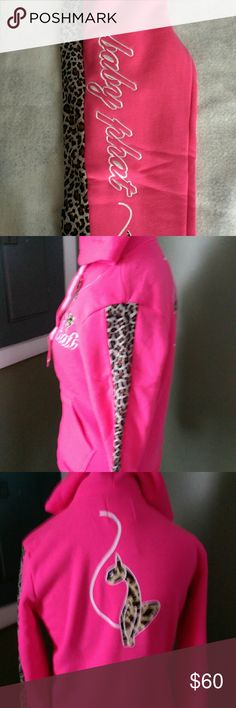Jogger sets Brand new authentic Baby Phat cheetah jogger set's. Neon pink Baby Phat Other
