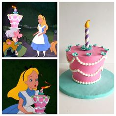 Alice in Wonderland smash cake inspiration - I can do a very simple version of this (with a real candle)
