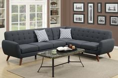 Poundex 2-Pcs Sectional Sofa F6962