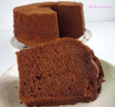 Bakericious: Japanese Dark Pearl Chocolate Chiffon Cake