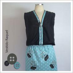 Vestido Raquel (Homem LEGO) - Café Costura de R$102 por R$90