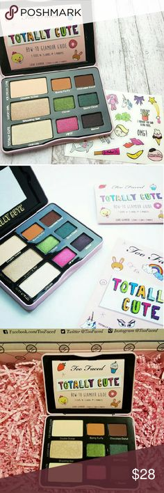 Too Faced Totally Cute Palette Brand New, Never been Used or Swatched Too Faced Totally Cute Eyeshadow Palette. Shades include:Double Scoop (matte vanilla malt)Bunny Fu-Fu (matte pumpkin spice)Chocolate Donut (matte dark brown)Shooting Star (shimmering nude)Clover (golden green pearl)Storm Cloud (blackened peacock)Unicorn (pink pearl)I<3 TF (bubblegum pink w/ silver sparkle)MEOW! (deep amethyst) No Trades! Price Firm! 100% Authentic! Sephora Makeup Eyeshadow