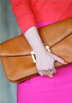Tame the brights with neutral accessories
