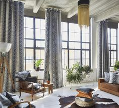[New] The 10 Best Home Decor (with Pictures) - Part of the Prestigious Textile Arizona collection Navajo is available in four colours including noire mimosa denim and linen. Available in curtains or blinds handmade in England link in our bio. Navajo Fabric, Decor Interior Design, Interior Decorating, Arizona, Cozy Coffee Shop, Prestigious Textiles, Made To Measure Curtains, Curtains With Blinds, Soft Furnishings