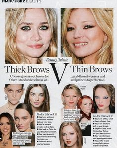 thick brows V thin brows? thick brows V thin brows? thick brows V thin brows? thick brows V thin bro Full Eyebrows, Thin Eyebrows, Thick Brows, Makeup Inspo, Beauty Makeup, Hair Beauty, 1990s Makeup, How To Do Makeup, Flawless Beauty