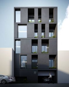 Image result for contemporary courtyard apartment building