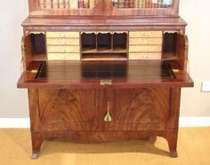 old mahogany furniture | Antique mahogany secretaire bookcase - Bureau and Secretaire