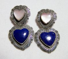 Southwestern QT Sterling Silver Lapis Mother by GretelsTreasures