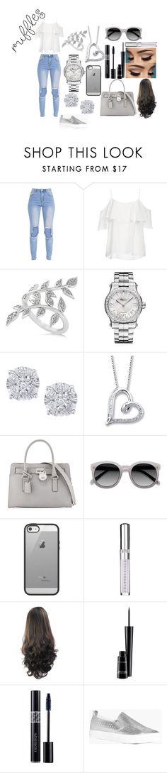 """Silver Ruffles"" by ishayniya on Polyvore featuring BB Dakota, Allurez, Chopard, Effy Jewelry, MICHAEL Michael Kors, Belkin, Chantecaille, MAC Cosmetics, Christian Dior and Boohoo"