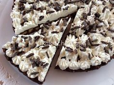 torta fredda cioccolato e panna senza uova