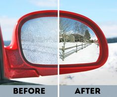 DIY Cars Hacks : Illustration Description 7 Clever Winter Car Care Tricks That Will Save You a Great Deal of Time and Trouble -Read More – Car Cleaning, Cleaning Hacks, Car Care Tips, Winter Hacks, Winter Tips, Winter Car, Car Hacks, Diy Car, Car Mirror