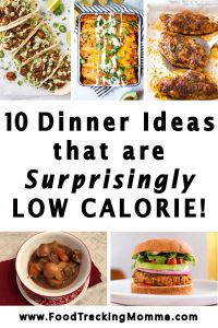 10 Surprising Low-Calorie Dinner Ideas - The Food Tracking Momma Low Calorie Meal Plans, Low Calorie Dinners, No Calorie Foods, Low Calorie Recipes, Healthy Recipes, Delicious Recipes, Healthy Options, Food Tracking, Homemade Ravioli