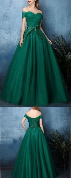 Off-The-Shoulder Prom Dress,Vintage Style Ball Gown Prom Dresses,Minty Green Prom Dress, Long Prom Dress,A-line Prom Dress,Long Length Prom Evening Dr