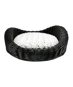 Take a look at this Black Wicker Pet Day Bed by Precious Tails on #zulily today!