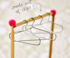 How to make Mini Cloth Hanger DIY step by step tutorial instruction ... Do you love this as well? See more awesome stuff at http://craftorganizer.org