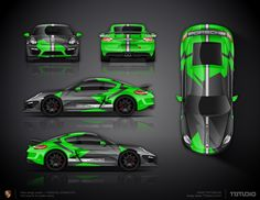 The approved livery wrap design for Porsche Cayman GT4