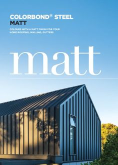 Colourblind has Uk partner bluescope - new matt black wrapped cladding - love the seamless love the seamless look House Cladding, Exterior Cladding, Facade House, Farm Shed, Modern Barn House, Shed Homes, Black House, Glamping, Exterior Design