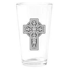 Pint Drinking Glass Celtic Cross  » Price: $24.97