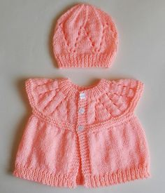 Hand Knitting Tutorials: All-in-One Baby Tops (6 months) and (9 - 12 months...