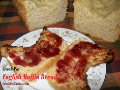Crock-Pot English Muffin Bread ~ CrockPotLadies.com