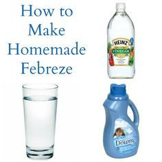 No need for the expensive stuff when you can make your own Febreeze with simple ingredients, for pennies on the dollar!