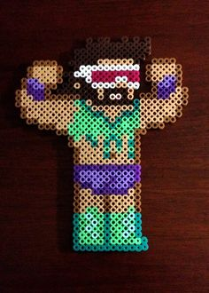 WWE Inspired Wrestling 8 Bit Perler Collection - Macho Man Randy Savage via eb.perler. Click on the image to see more!