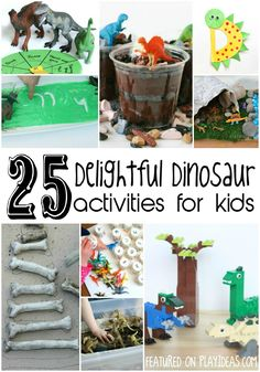25 Dinosaur Activities for Kids via Play Ideas